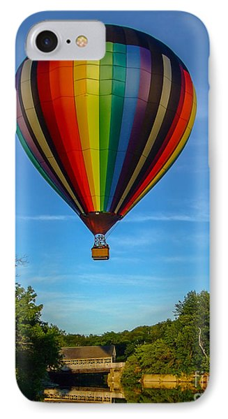 Hot Air Balloon Woodstock Vermont Phone Case by Edward Fielding