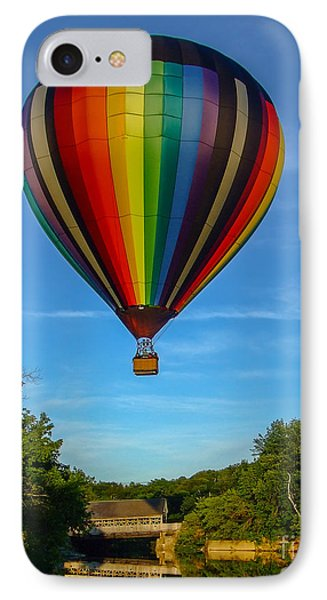 Hot Air Balloon Woodstock Vermont IPhone Case by Edward Fielding