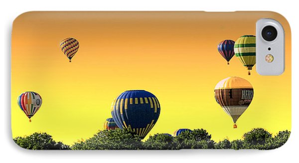 Hot Air Balloons At Sunset  IPhone Case