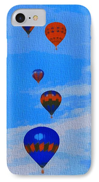 Hot Air Balloons Pop Art IPhone Case by Dan Sproul