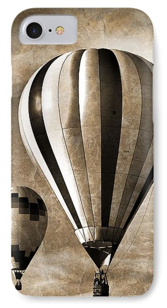 Hot Air Balloons Vintage IPhone Case by Dan Sproul