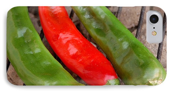Hot And Spicy - Chiles On The Grill IPhone Case by Steven Milner
