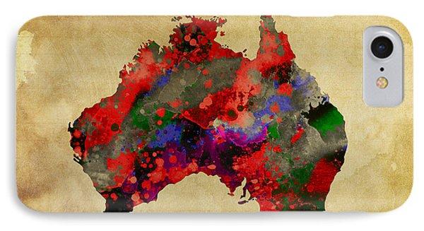 Hot Australia Map IPhone Case by Daniel Hagerman