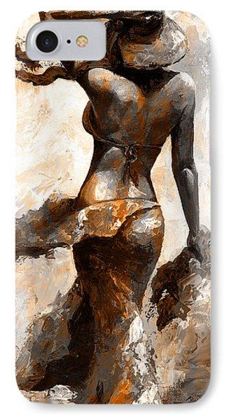 Hot Breeze - Digital Color Version Rust IPhone Case by Emerico Imre Toth