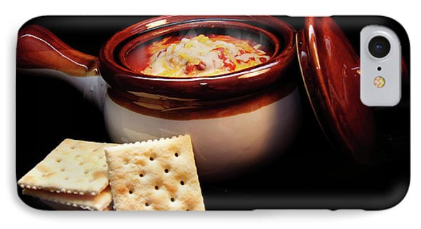 Hot Chili With Cheese And Crackers Phone Case by Andee Design