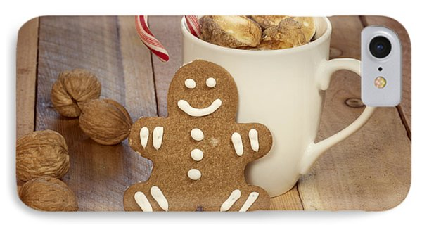 Hot Cocoa And Gingerbread Cookie IPhone Case by Juli Scalzi