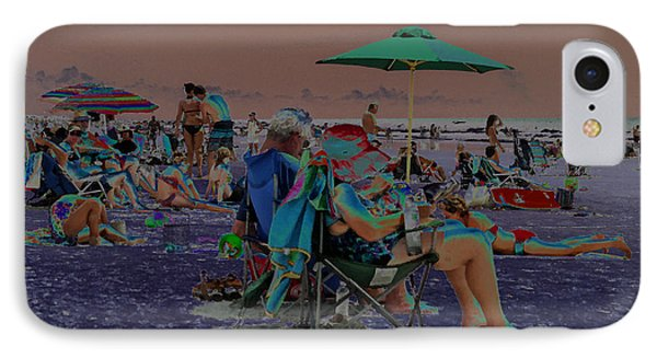 Hot Day At The Beach - Solarized Phone Case by Suzanne Gaff