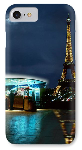 Hot Dog In Paris IPhone Case by Mike McGlothlen