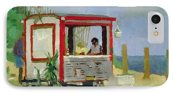 Hot Dog Stand Oil On Canvas IPhone Case by Sarah Butterfield