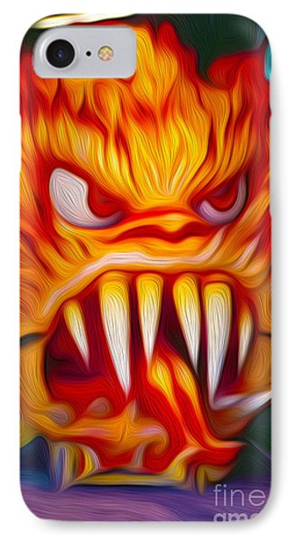 Hot Head Devil IPhone Case by Gregory Dyer