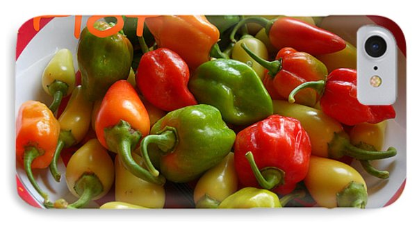 Hot Hot Peppers IPhone Case by Heidi Manly