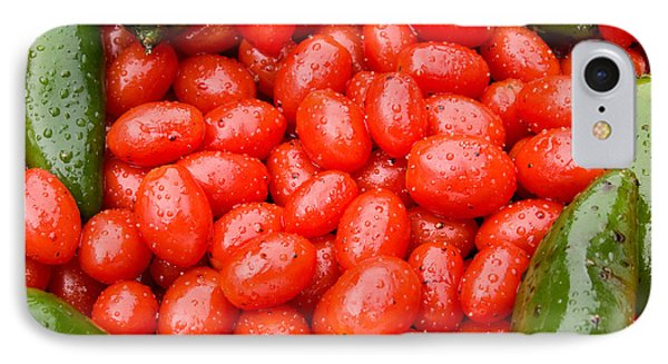 Hot Peppers And Cherry Tomatoes Phone Case by James BO  Insogna