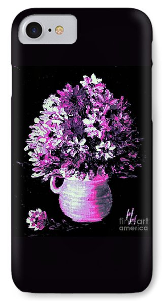 Hot Pink Flowers IPhone Case by Hazel Holland