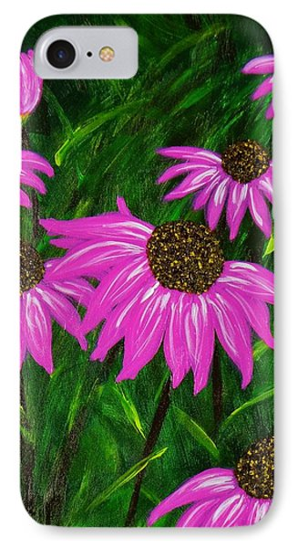 IPhone Case featuring the painting Hot Pink Jungle by Celeste Manning