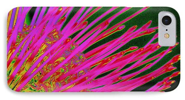 Hot Pink Protea Phone Case by Ranjini Kandasamy