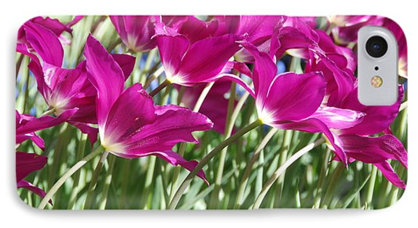 IPhone Case featuring the photograph Hot Pink Tulips 2 by Allen Beatty