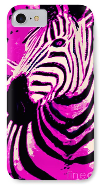Hot Pink Zebra  IPhone Case by Mindy Bench