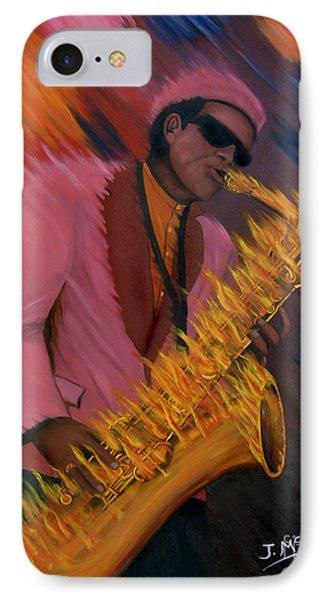 Hot Sax Phone Case by Jeff McJunkin