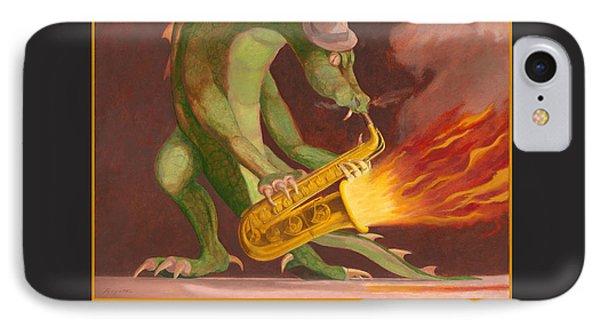Hot Sax IPhone Case by Leonard Filgate
