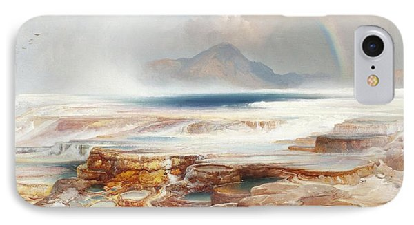 Hot Springs Of Yellowstone Phone Case by Thomas Moran