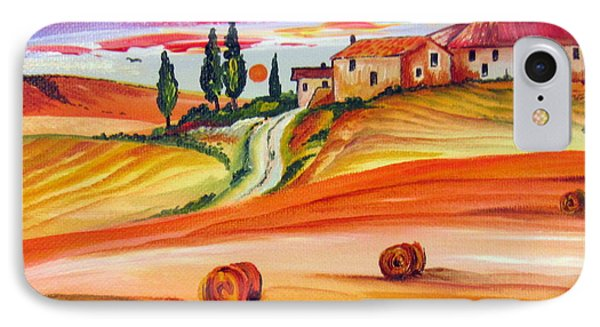 Hot Summer Tuscany Sunset IPhone Case