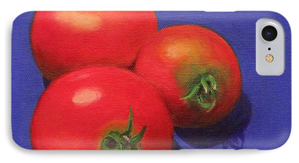 IPhone Case featuring the painting Hot Tomatoes by Janet Greer Sammons