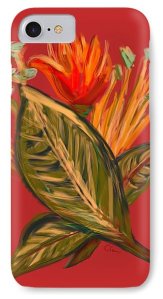 IPhone Case featuring the digital art Hot Tulip L by Christine Fournier