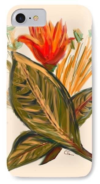 IPhone Case featuring the digital art Hot Tulip Spring by Christine Fournier