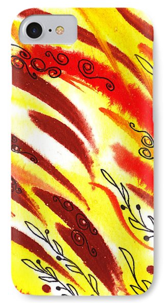 Hot Wind Abstract IPhone Case