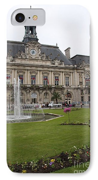 Hotel De Ville - Tours IPhone Case by Christiane Schulze Art And Photography
