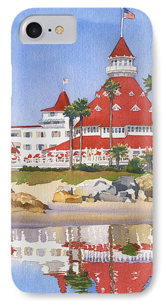 Pacific Ocean iPhone 7 Case - Hotel Del Coronado Reflected by Mary Helmreich