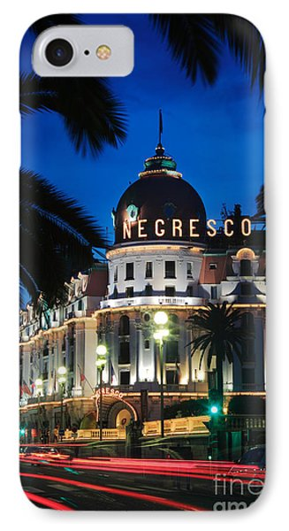Hotel Negresco IPhone Case by Inge Johnsson