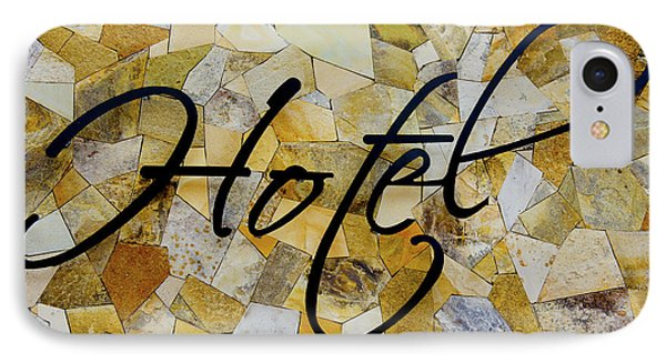 Hotel Sign IPhone Case by Aged Pixel
