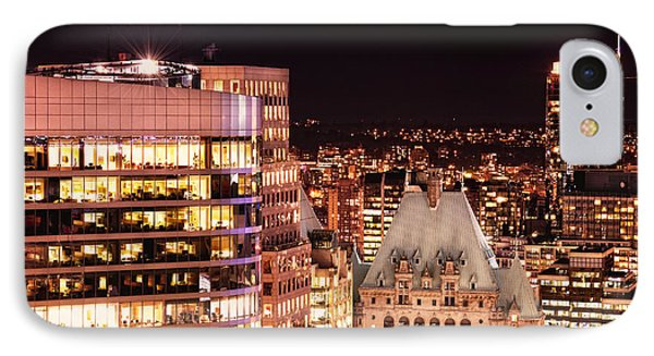 IPhone Case featuring the photograph Hotel Vancouver And Wall Center Mdccv by Amyn Nasser