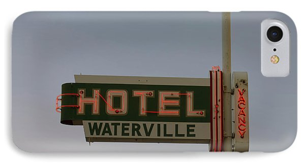 Hotel Waterville Neon Sign IPhone Case