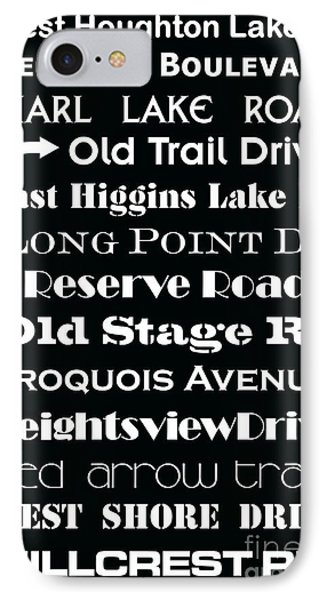Houghton Higgins Subway Sign IPhone Case