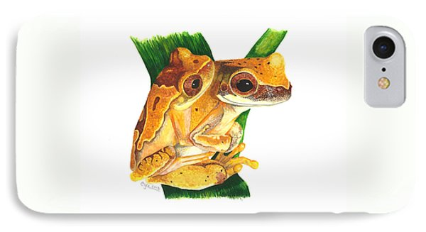 Hourglass Treefrog IPhone Case by Cindy Hitchcock