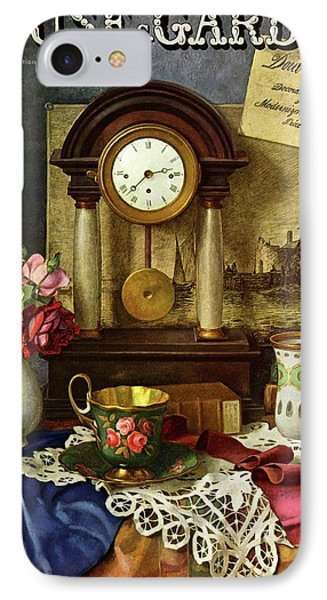 House & Garden Cover Illustration Of A Still Life IPhone Case by Robert Harrer