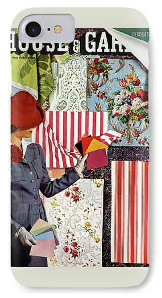 House & Garden Cover Illustration Of A Woman IPhone Case by Joseph B. Platt