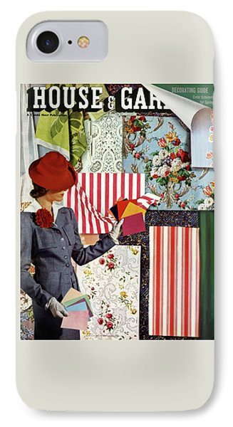House & Garden Cover Illustration Of A Woman IPhone Case by Joseph B. Platt