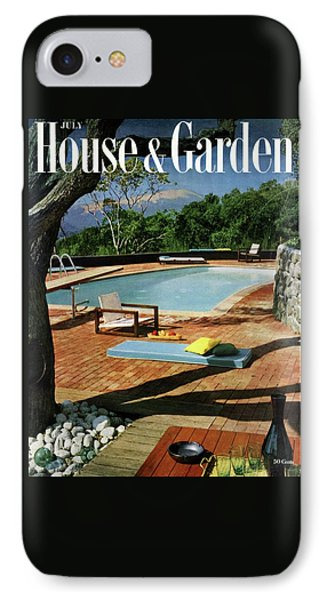 House And Garden Cover Featuring A Terrace IPhone Case by Georges Braun