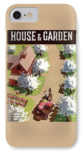 House And Garden Cover IPhone Case by John Gibbs