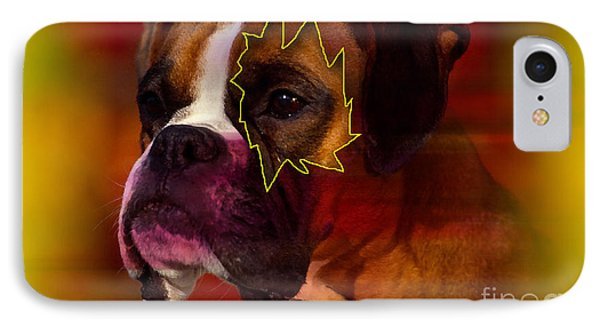 House Broken Boxer Painting Phone Case by Marvin Blaine