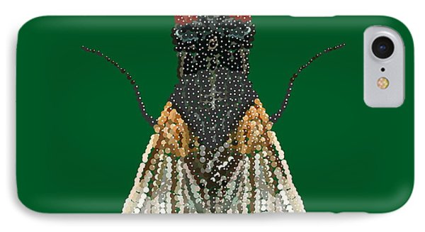 House Fly In Green IPhone Case by R  Allen Swezey