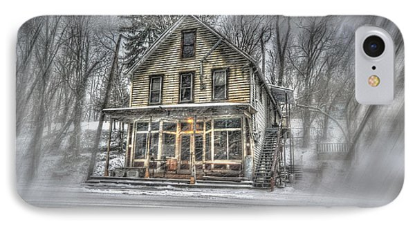 House In Snow Phone Case by Dan Friend