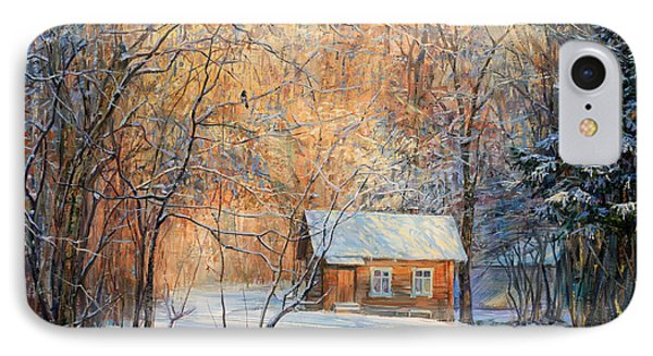 House In The Winter Forest  IPhone Case