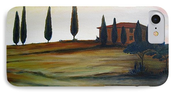 House In Tuscany IPhone Case by Christine Huwer