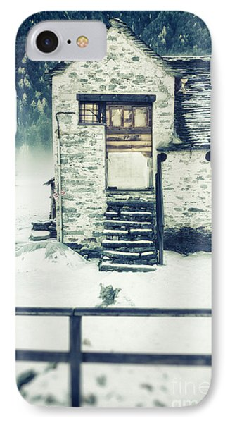 House Near The Wood IPhone Case