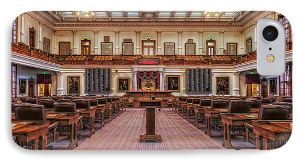 House Of Representatives - Texas State Capitol IPhone Case by Mountain Dreams
