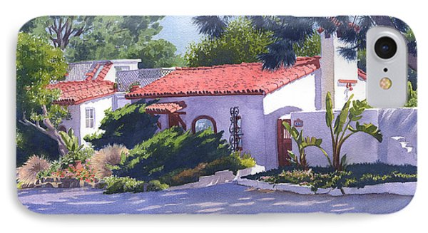 House On Crest Del Mar IPhone Case by Mary Helmreich